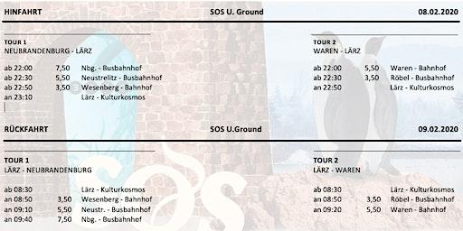 "Shuttle ""SOS U.Ground"" 08. Februar 2020"