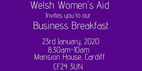 Welsh Women's Aid Business Breakfast tickets
