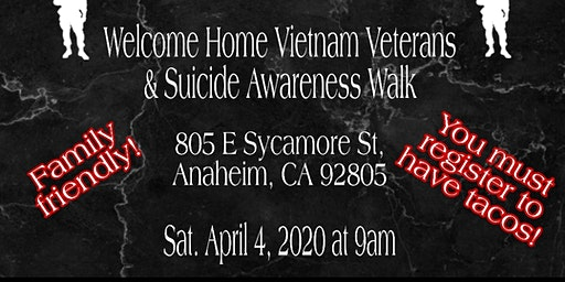 Vietnam Veteran and Suicide Awareness Walk