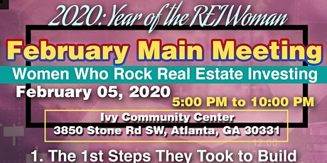 February Main Meeting: Women Who Rock Real Estate Investing tickets