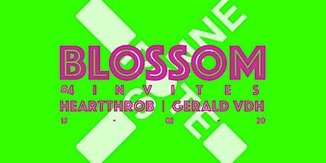 Blossom #4 invites/ Heartthrob & Gerald VDH Tickets