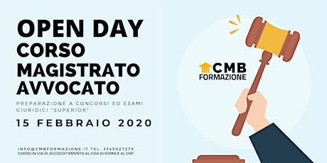 CMB FORMAZIONE - Open Day 15 febbraio 2020 - CORSO MAGISTRATO AVVOCATO biglietti