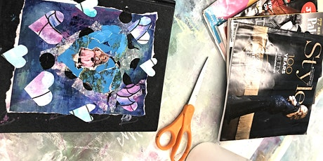 National Inspire Your HeART with ART Day with  Heart Collaged Journals tickets