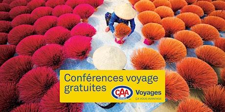 Conférences voyage CAA-Québec à Québec billets