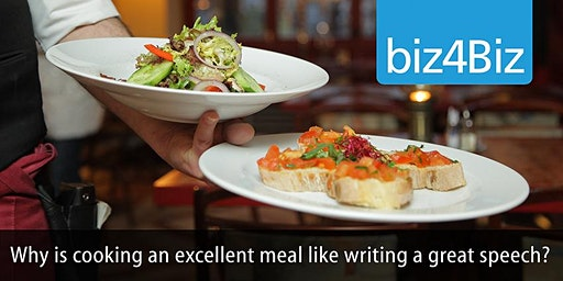 Why is creating an excellent meal like writing a great speech?