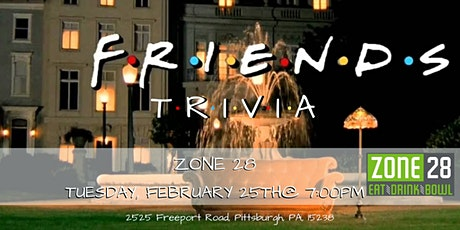 Friends Trivia at Zone 28 tickets