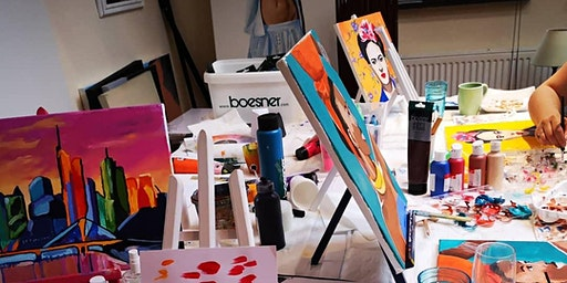 "Artbrunch ""Free topic"" im Atelier  Bad  Soden. Choose out of 20 !"