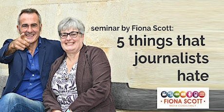 Five things journalists hate - how to hack off a journalist in easy steps (how to make them love you too).  tickets