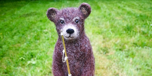 Vintage Bear Needle Felting Workshop at The Old School Gallery in Yetminster 30th May 2020
