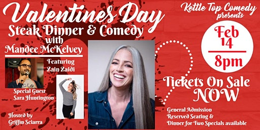 Valentines Day: Steak Dinner and Comedy Show