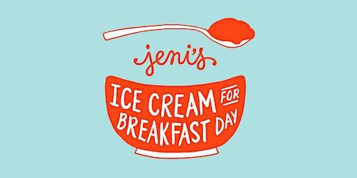 Jeni's Ice Cream for Breakfast Day