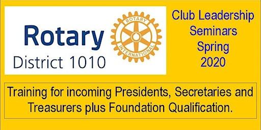 Club Leadership Seminar (CLS) Portlethen
