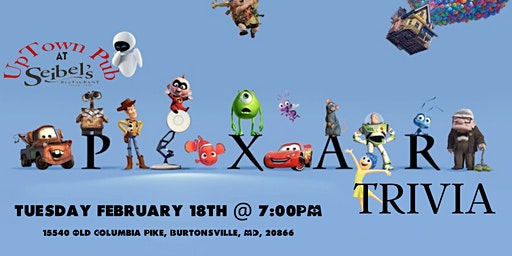 Disney Pixar Movie Trivia at Seibel's Restaurant & Uptown Pub