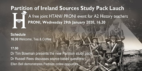 Launch of the Partition of Ireland Sources Study Pack tickets