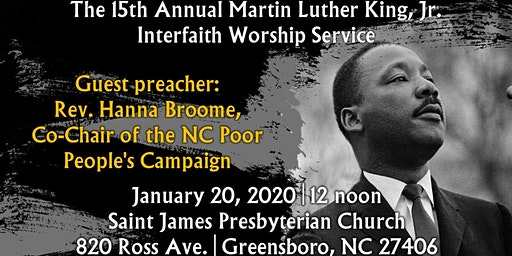 The 15th Annual Martin Luther King, Jr. Interfaith Worship Service