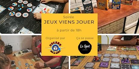 Soirée JEUX VIENS JOUER  Janvier 2020 billets