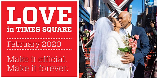 Love in Times Square 2020: Weddings in the Square