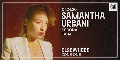 Samantha Urbani @ Elsewhere (Zone One)