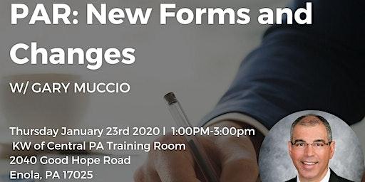 Gary Muccio New PAR Forms