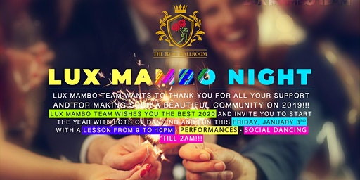 Lux Mambo Nights -  Miss Greater Bay Area Sendoff - Jan 17