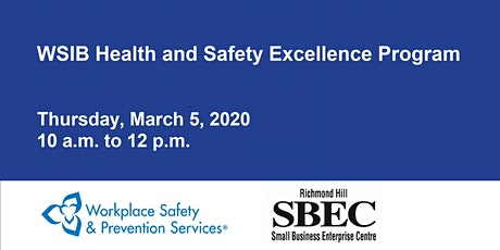 WSIB Health and Safety Excellence program tickets