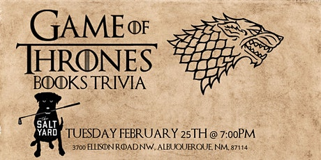 Game of Thrones Books Trivia at Salt Yard West tickets