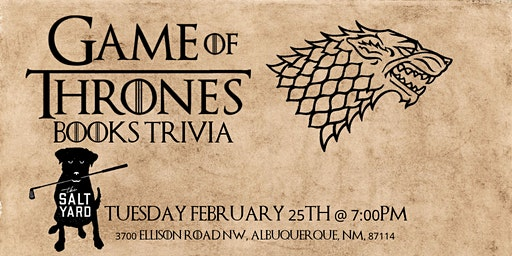 Game of Thrones Books Trivia at Salt Yard West