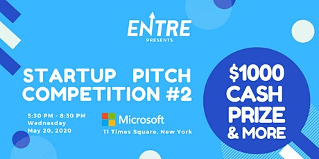 Startup Pitch Competition #2 - $1000 Cash Prize tickets
