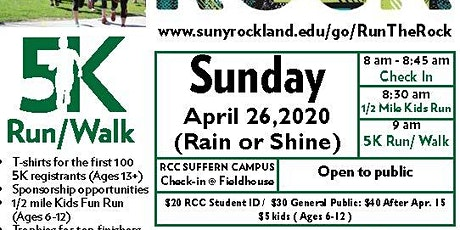 Run the Rock 2020 - 5K Fun Run/Walk in Support of Veterans' Services tickets