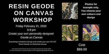Resin Geode on Canvas Workshop tickets
