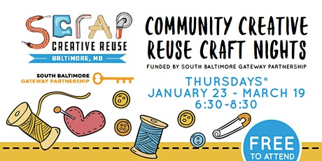 Community Creative Reuse Craft Nights: Journal + Book Making tickets