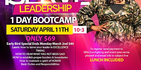 iSERVE Leadership BootCamp tickets