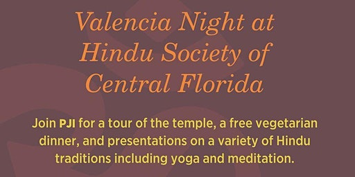 Valencia Day at the Hindu Society of Central Florida