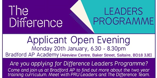 Open Evening - Difference Leaders in PRU