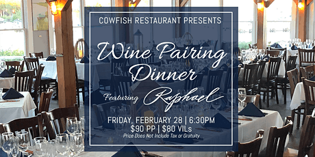 Wine Pairing Dinner Featuring Raphael tickets
