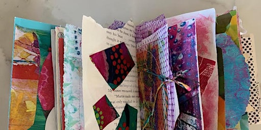 Intentional Journal Design Workshop: Mixed Media Collage, Paint & Hand Sew