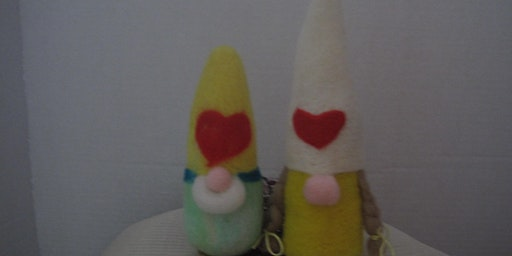 Needle Felted Valentine Gnome Workshop