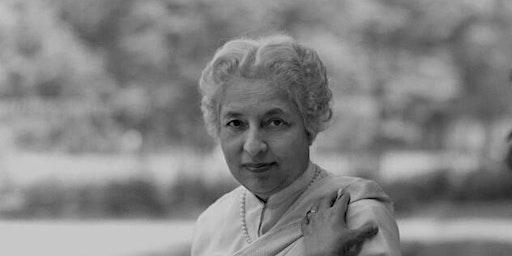Life and thought of Vijaya Lakshmi Pandit: Prof Manu Bhagavan