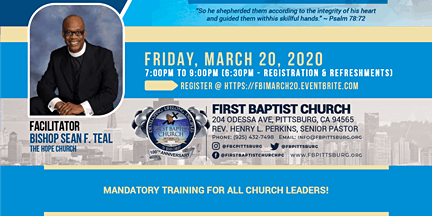 First Baptist Institute Leading as A Levite