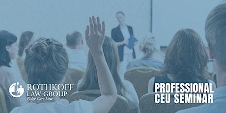 Virtual CEU Seminar: Identifying & Preventing Elder Financial Abuse  tickets