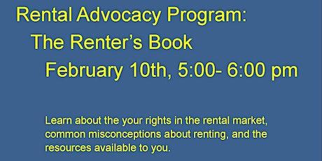 Rental Advocacy Program: The Renter's Book tickets