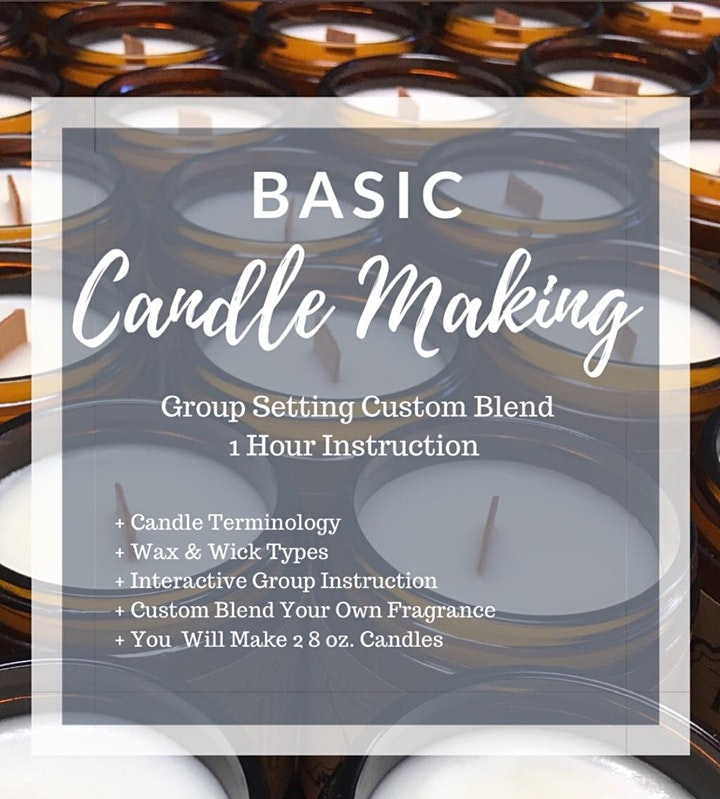 Get Lit Candle Making at Firefly Distillery - Safe & Social image
