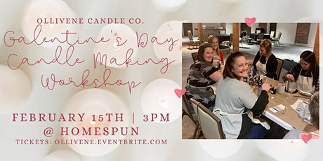 Galentine's Day Candle Making Workshop w/ Ollivene Candle Co. @ Homespun tickets