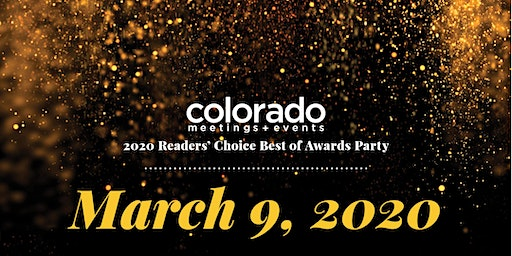 Colorado Meetings + Events Best of 2020 Readers' Choice Awards Party
