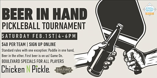 Beer In Hand Pickleball Tournament