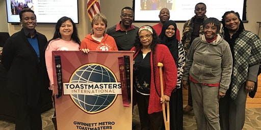 Improve your Communication Skills with the Gwinnett Metro Toastmasters Club
