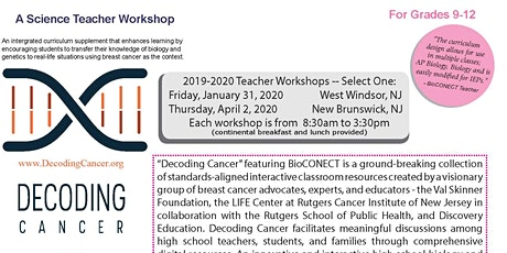 Decoding Cancer featuring BioCONECT tickets