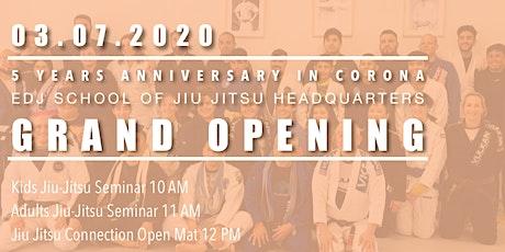 EDJ School of Jiu Jitsu Headquarters Grand Opening tickets