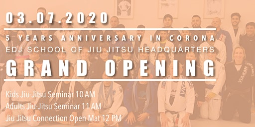 EDJ School of Jiu Jitsu Headquarters Grand Opening
