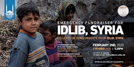Emergency Fundraiser for Idlib · collecte de dons urgente pour Idlib billets